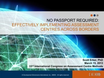 effectively implementing assessment centres across borders - ACSG