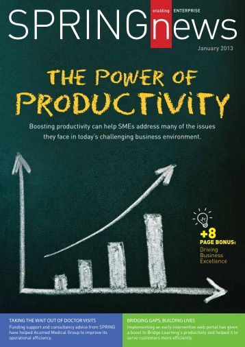 Boosting productivity can help SMEs address many of the issues ...