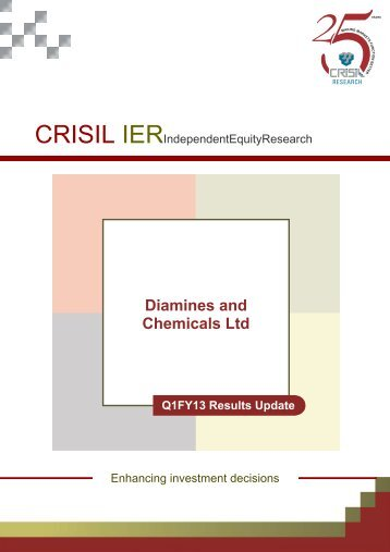 crisil update_ q1 fy 2013 - Diamines And Chemicals Limited