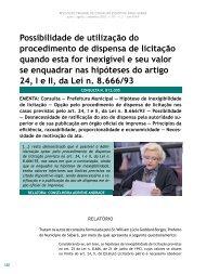 Possibilidade de utilização do procedimento de ... - Revista do TCE