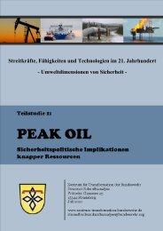 Peak Oil - Sicherheitspolitische Implikationen knapper ... - Faktor X