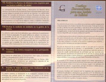 El Decálogo Iberoamericano para una Justicia de Calidad
