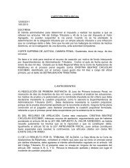 No. de Proceso 100-2010 - Organismo Judicial