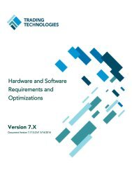 Hardware and Software Requirements - Trading Technologies