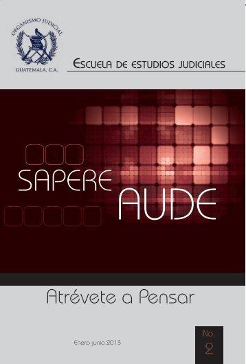Descargue aquí la Revista Sapere Aude - Organismo Judicial