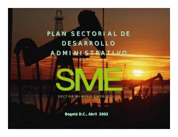 Plan Sectorial de Desarrollo Administrativo - Unidad de Planeación ...