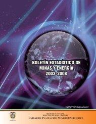 Boletín Estadístico de Minas y Energía 2003-2008. - Upme