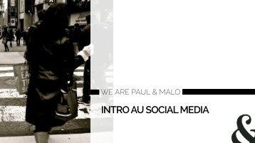 INTRO AU SOCIAL MEDIA
