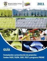 GUÍA 2011 - Unidad de Planeación Minero Energética, UPME