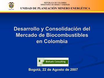 Biodiesel - Unidad de Planeación Minero Energética, UPME