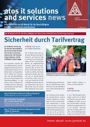Sicherheit durch Tarifvertrag atos it solutions and services news