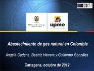 Abastecimiento de Gas Natural en Colombia. - Unidad de ...
