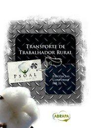 Cartilha Transporte de Trabalhador Rural – pdf - Abrapa