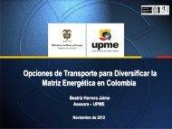 Opciones de Transporte para Diversificar la Matriz Energética en ...