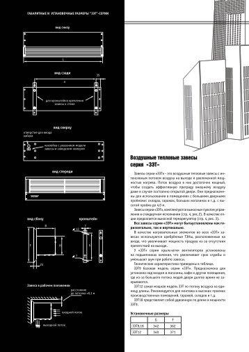 Воздушные тепловые завесы серия «ЗЭТ»