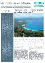 Pourquoi les Seychelles sont-elles indemnes. Actualité scientifique ...