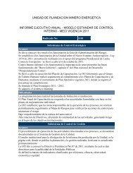 Informe Ejecutivo SCI-MECI 2011 - Unidad de Planeación Minero ...