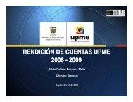 Informe de Gestión 2009 - Upme