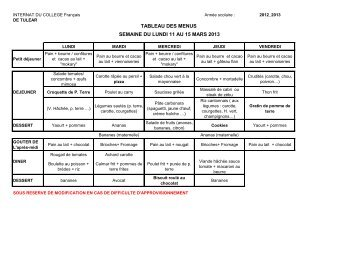 Menu mars-avril 2013 - Collegetulear.fr