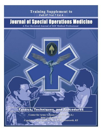 Training Supplement - Journal of Special Operations Medicine