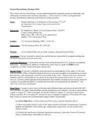 General Parasitology (Zoology 4104) This course ... - Matthew Bolek