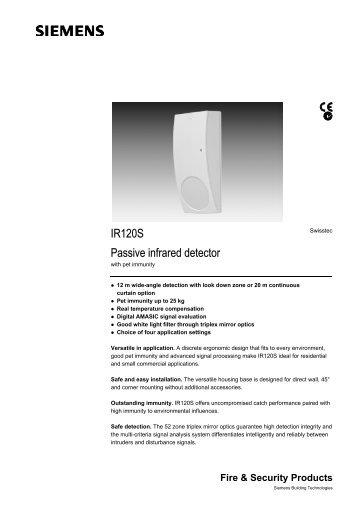 Gjd gjd310 video motion detectors product datasheet siemens ir120s intruder detectors product datasheet cheapraybanclubmaster Gallery