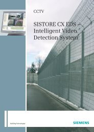 SISTORE CX EDS – Intelligent Video Detection System - Longo Plano