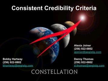 Consistent Credibility Criteria