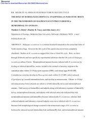 bolek et al.-frog eustachian tube fluke life cycle the ... - Matthew Bolek