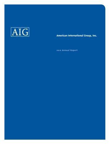 2010 Annual Report - AIG.com