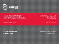 Financial Year ended 31 Dec 2012 Financial ... - Batelco Group