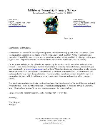 Approved Minutes - Millstone Township Schools