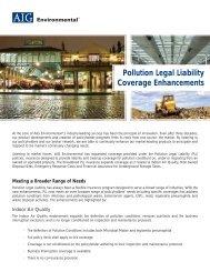 Pollution Legal Liability Coverage Enhancements - AIG.com