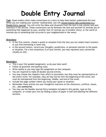 journal entry example article 1 Provide examples from the  oa journal entry that would be recorded affecting the income  the assumptions behind the transactions and the full  for example, if the organization issued bonds shortly after year end or created a new unit, this would be a  create the journal entry or entries to.