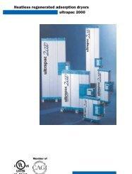 Heatless regenerated adsorption dryers ultrapac 2000 - odms.net.au