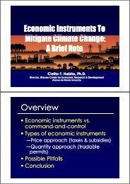 Economic Instruments - APFED