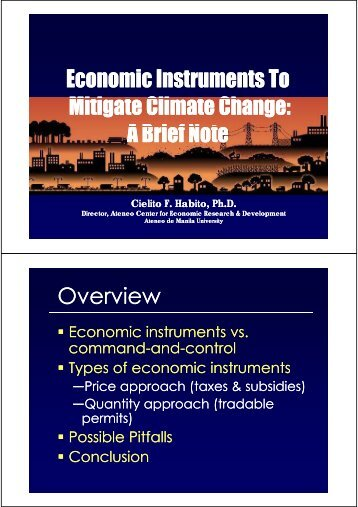 Economic Instruments - APFED