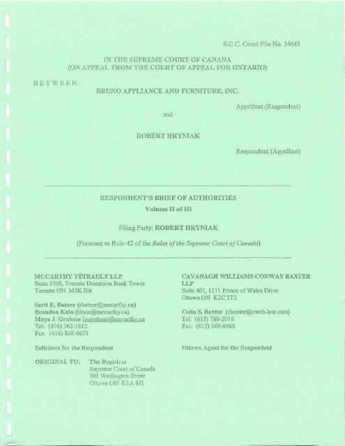 Respondents Book Of Authorities Volume Ii Heydary