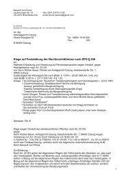 Klage auf Feststellung der Rechtsverhältnisse ... - Freistaat Danzig
