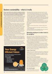 2013 Business Sustainability - odms.net.au