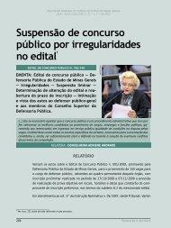 Suspensão de concurso público por ... - Revista do TCE