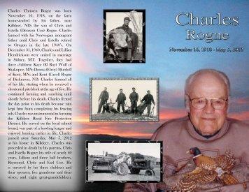 Charles Christen Rogne was born November 16, 1918, on the farm ...