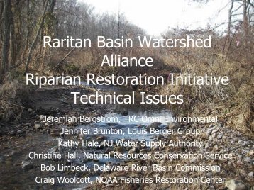 Technical Issues - Raritan Basin Watershed Management Project