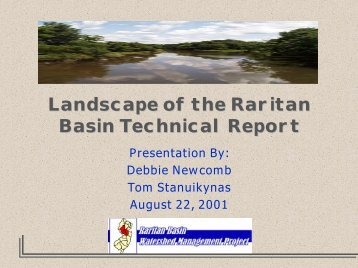landscape presentation - Raritan Basin Watershed Management ...
