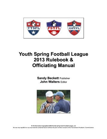 man mechanics pdf maryland board of football officials rh yumpu com Official Referees Signals in Basketball NFHS Logo