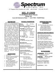 Mil-P-53030 Waterborne Epoxy Primer - Spectrum Coatings