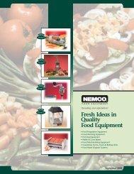 Fresh Ideas In Quality Food Equipment