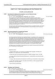 institut für skandinavistik/fennistik - koost - Universität zu Köln