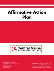 goal of the affirmative action plan - Central Maine Community College