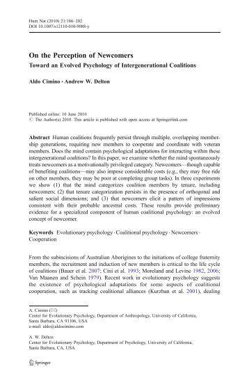 Evolutionary psychology MeaningofLife decameron essays